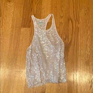 Free People Pink Sequin Tank. Size M.